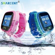 Получить скидку Q520 ребенок SmartWatch IP67 Плавание GPS сенсорный телефон Smart Watch SOS вызова расположение устройства трекер дети Безопасный анти-потерянный мониторы