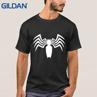 Made T Shirt Stylish Venom Spider Cartoon Character Black Hip Tee Shirts Men Loose Size Clothing