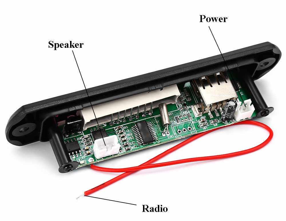 Автомобильный цифровой светодио дный 12 В Авто MP3 плеер звук модификация декодер доска Панель Поддержка FM радио USB пульт дистанционного Дисплей памяти функция