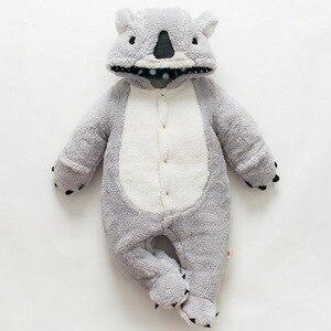 Image 3 - Loozykit, mameluco infantil, Mono para bebés y niñas, ropa para recién nacidos, ropa con capucha para bebés, ropa para bebés con bonito Koala, mameluco para bebés