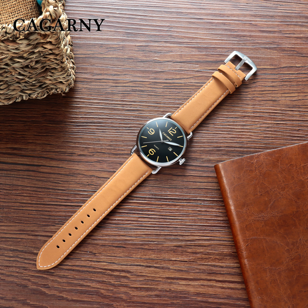 new arrival cagarny luxury brand quartz wrist watch for men watches casual clock man (21)