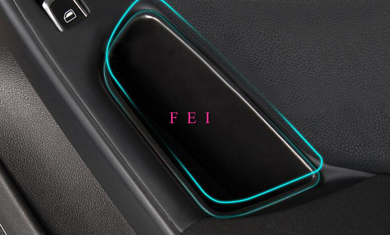 Left Hand Drive Black ABS Front Door Handle Armrest Interior Storage Box Decoration Cover Container for