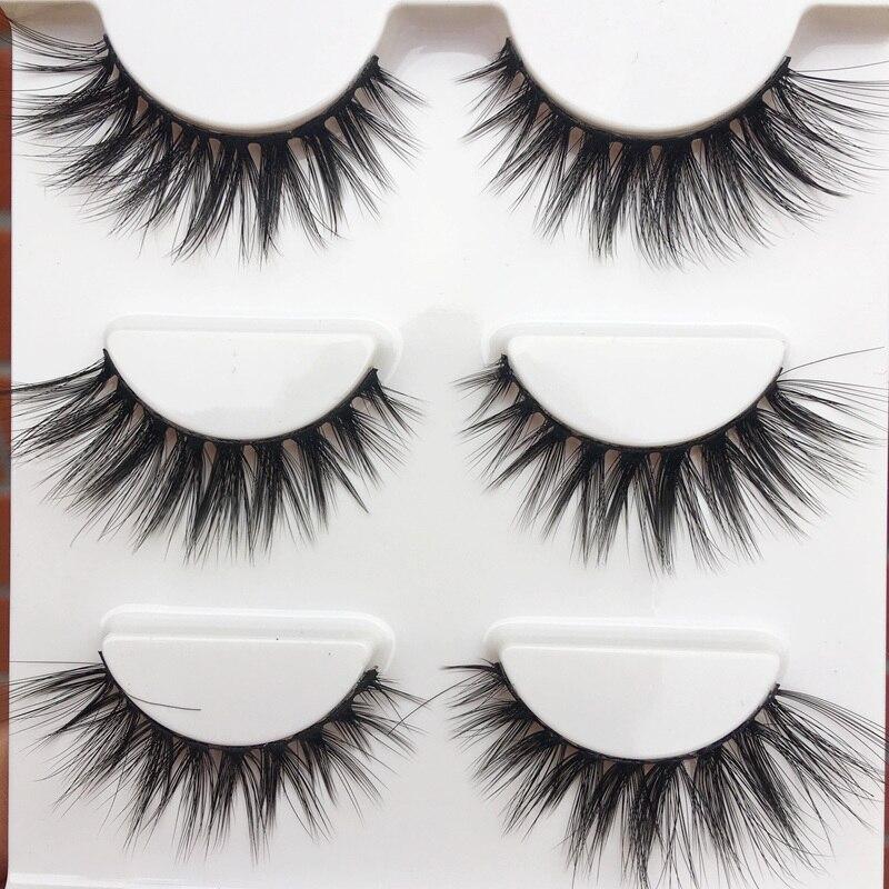 New 0.07 High Quality False Eyelashes Makeup Tools Cross Natural Long Fake Eyelashes Cotton Thread Thick Eyelash Extension