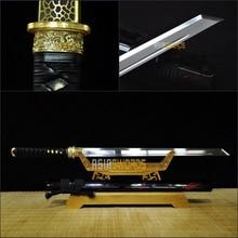 Free Sword Bag Hand Forged T10 1095 Spring Steel KIRIHA-ZUKURI Sharp Japanese Wakizashi Ninjato Samurai Katana Ninja Sword #CJG