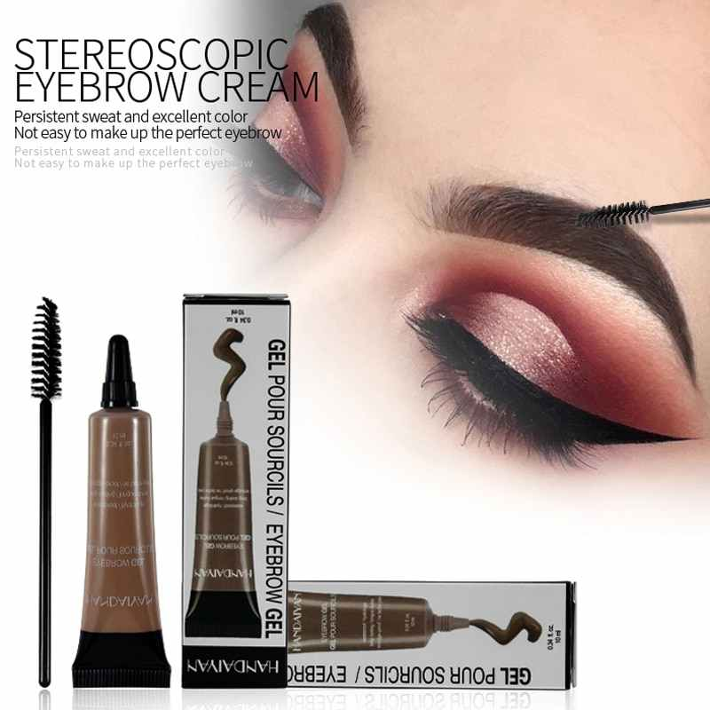 HANDAIYAN Microblading Eyebrow TATTOO ปากกาชุดแปรง Waterproof Eyebrow GEL TATTOO Paint แต่งหน้า Henna Eyebrow Dye Cream แต่งหน้า