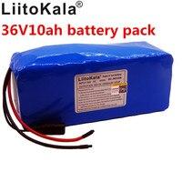 Liitokala 10s4p 36v10ah 18650 bateria de lítio 8000 mah bateria de íon de lítio bicicleta elétrica grande capacidade bms 500 w