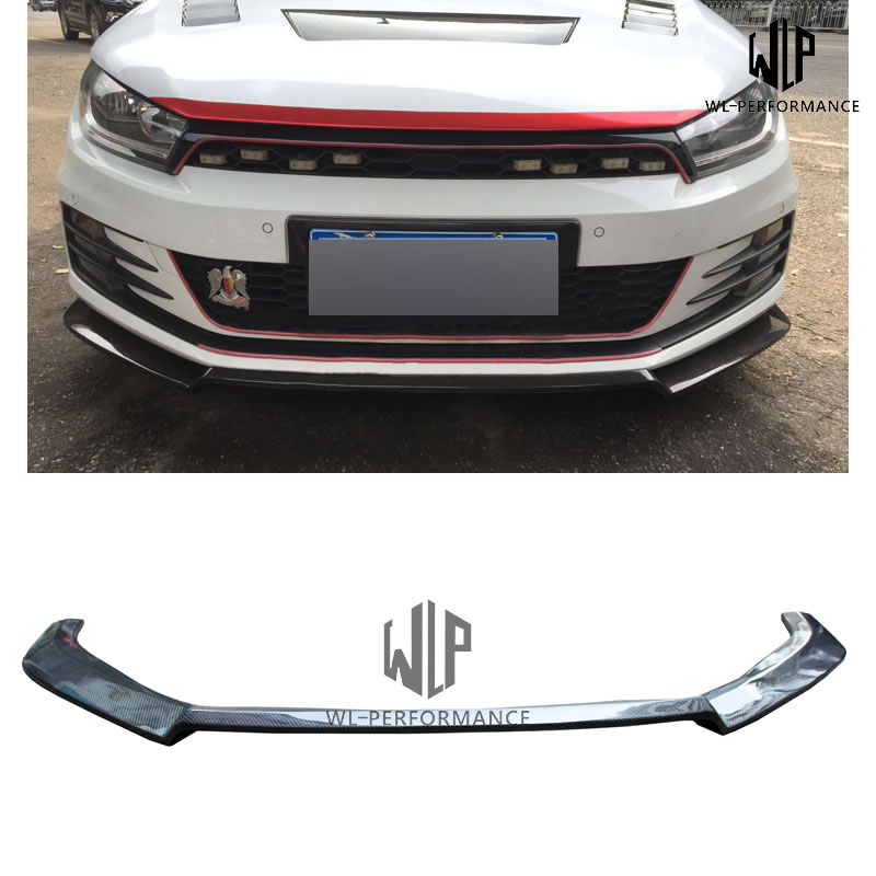 VW Carbon Fiber Front Bumper Lip Splitter Car Styling For Volkswagen Scirocco Standard Bumper Karztec Style Car Body Kit 2015-UP