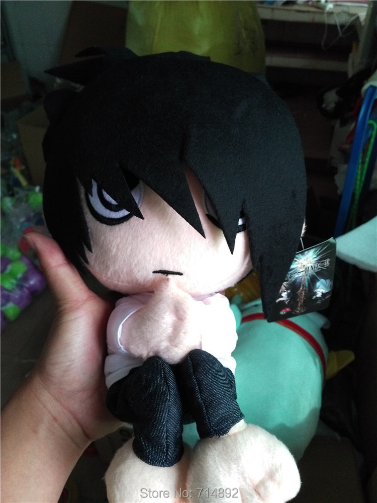 Death Note Lawliet plush doll Anime L.Lawliet cosplay figure plush toy 30cm cartoon pillow free shipping