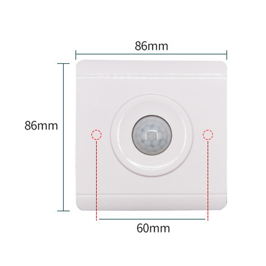 White PIR Senser Infrared IR Switch Module Body Motion Sensor Auto On off Lights Lamps ...