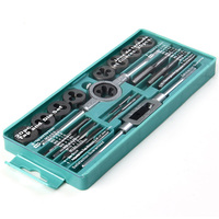 20PCS M3 M12 Straight Tap Die Set Car Motorcycle Maintenance Tools Metric Hardware Tool Combination With