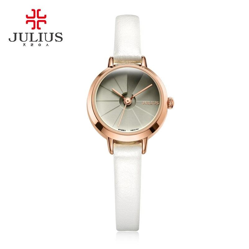site réputé 4e2ea f077a US $43.73  Korean Design Women's Quartz Wrist Watch Blue Leather Montre  Femme 30M WaterProof Slim Ladies Thin Dial 23mm Whatch Reloj JA 979-in  Women's ...