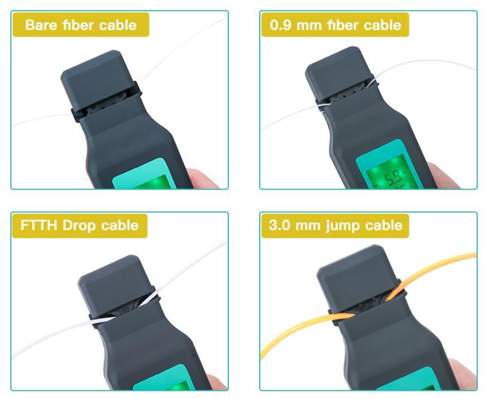 Identificateur de Fiber optique identificateur de Fiber optique en direct 750nm-1700nm SM et MM FF-3306A de câble de fibre - 5