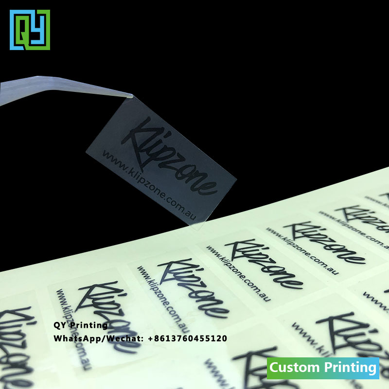 1000pcs 30x15mm free shipping custom printed transparent logo brand name stickers handmade sticker gift packing clear