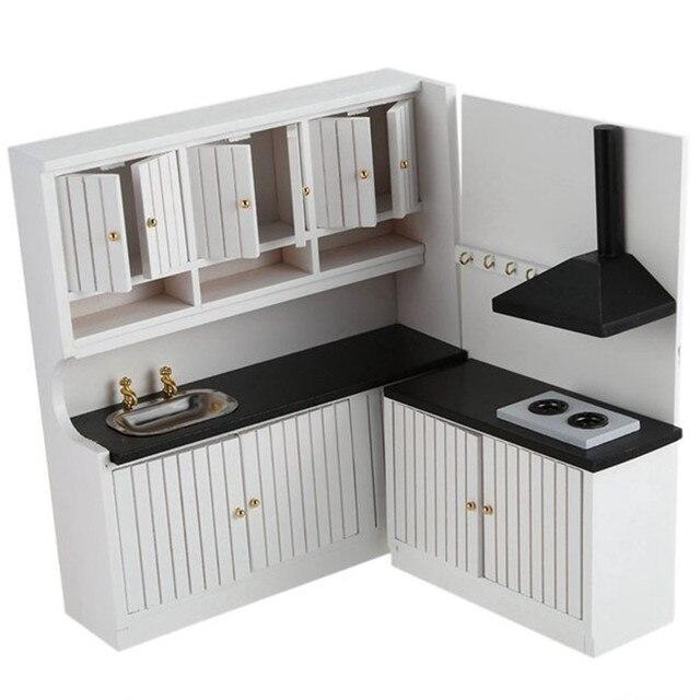 2018 New Hot Sale Kids Wooden Kitchen Set Toys 1 12 Scale Dollhouse