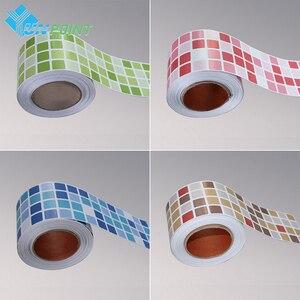 Criativo Rodapé Adesivos de Parede Auto Adesivo À Prova D' Água Telhas Linha de Cintura Adesivo Mosaico Casa de Banho Cozinha Decoração de Casa Filme