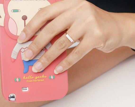 2017 New BFF Minimal Thin Cubic Bar Rings For Women Boho - Κοσμήματα μόδας - Φωτογραφία 4