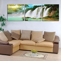 Free Ship 3 Panel Wall Art Botanical Waterfall Printe Picture Oil Painting Canvas No Frame Abstract