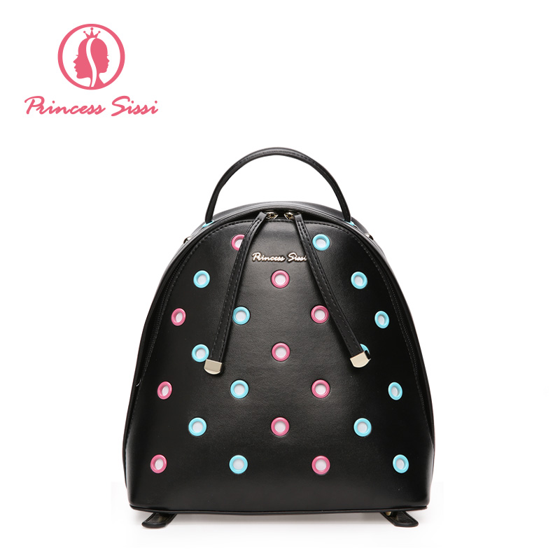 Princess Sissi Fashion Leather Backpack for Women Bags Preppy Style Backpack Girls School Bag Zipper Kanken