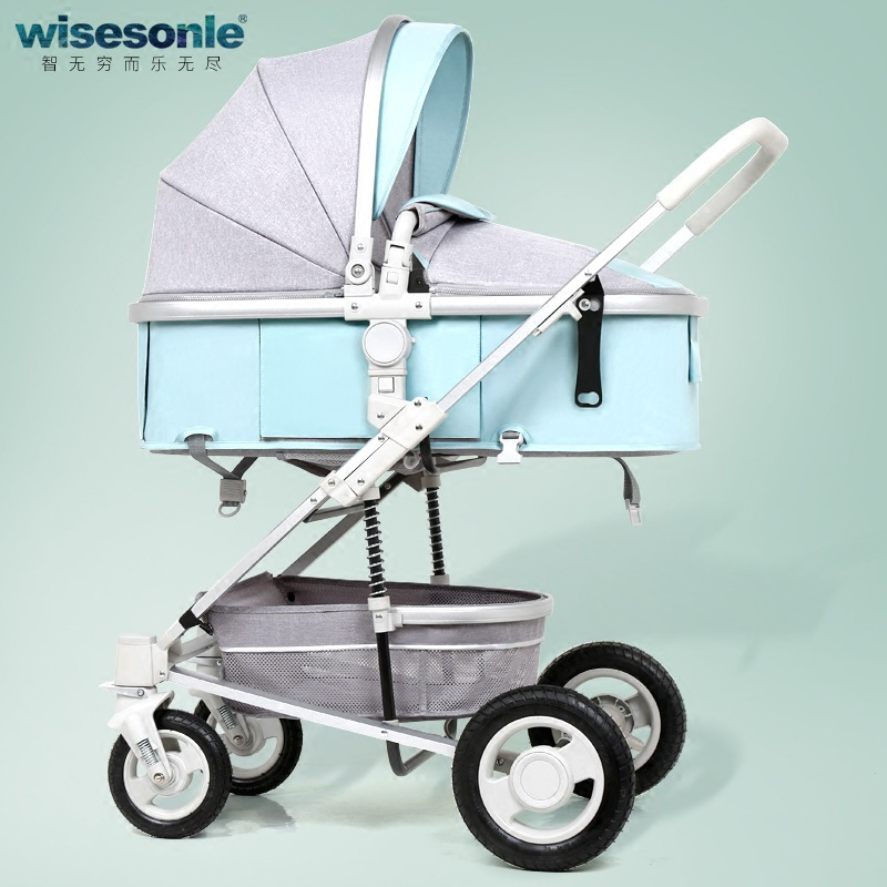 2 In 1 High Landscape Baby Stroller Can Sit and Lie Shock Absorber Folding Trolley Baby Carriage