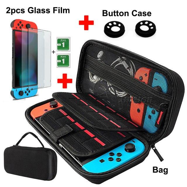 9 w 1 pancerne etui dla przełącznik do nintendo do przechowywania torba do przenoszenia przenośny do Nintendoswitch Switch NS konsola do gier akcesoria