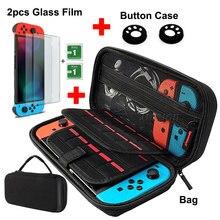 Capa dura 9 em 1 para nintendo switch, bolsa de armazenamento portátil para nintendo switch, acessórios para jogos