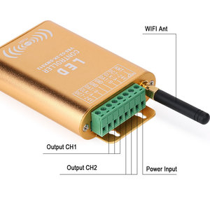 Image 3 - wifi connection SPI controller, 2048 pixel LED digital addressable controller, dream color strip light controller with micphone