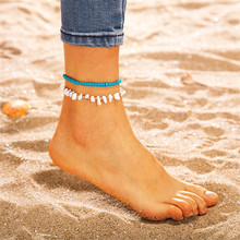New  Bohemian Natural Stone Ankelt For Women Charm Beads Anklet Bracelet Fashion Beach Ocean Jewelry Gifts стоимость