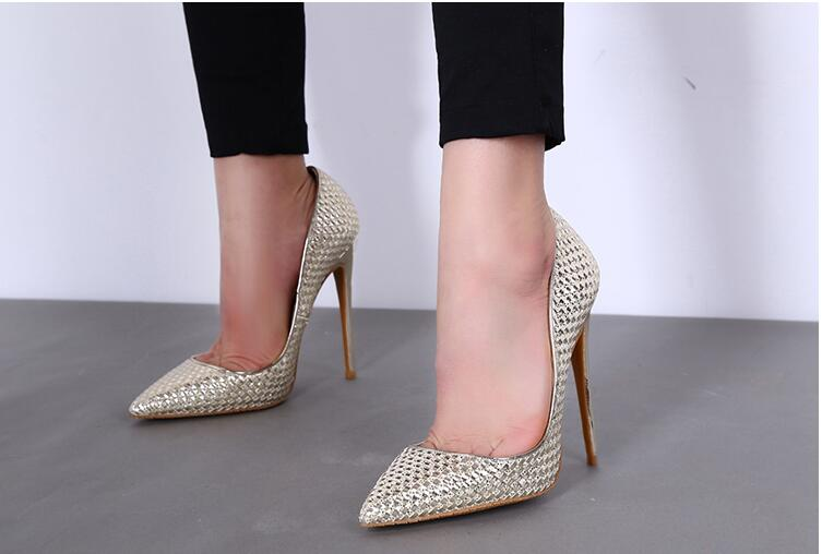 New arrival women sexy pumps high heels pointed toe slip-on ladies fashion dress shoes glod silver balck shoes high heel 10 cm plus big size 34 52 shoes woman 2017 new arrival wedding ladies high heel fashion sweet dress pointed toe women pumps e 177