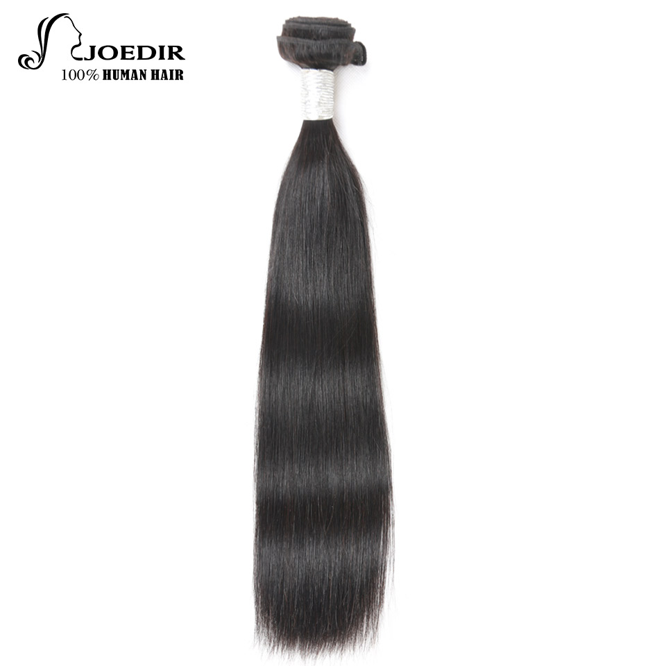 Joedir Pre-Colored Non Remy Peruvian Hair Straight Human Hair Bundles Natural Color 10-26 Inch Weave Bundles Free Shipping