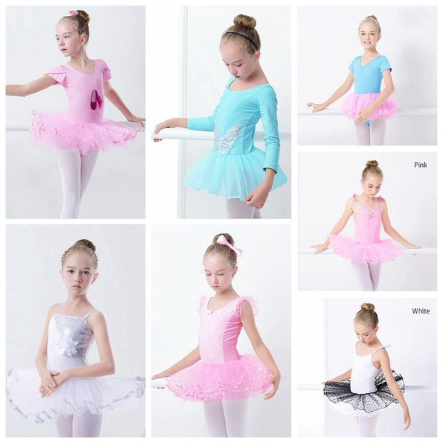 Распродажа для девочек, для балета платье пачка блесток белый балетное трико балетное платье без рукавов гимнастика Купальник для танцев
