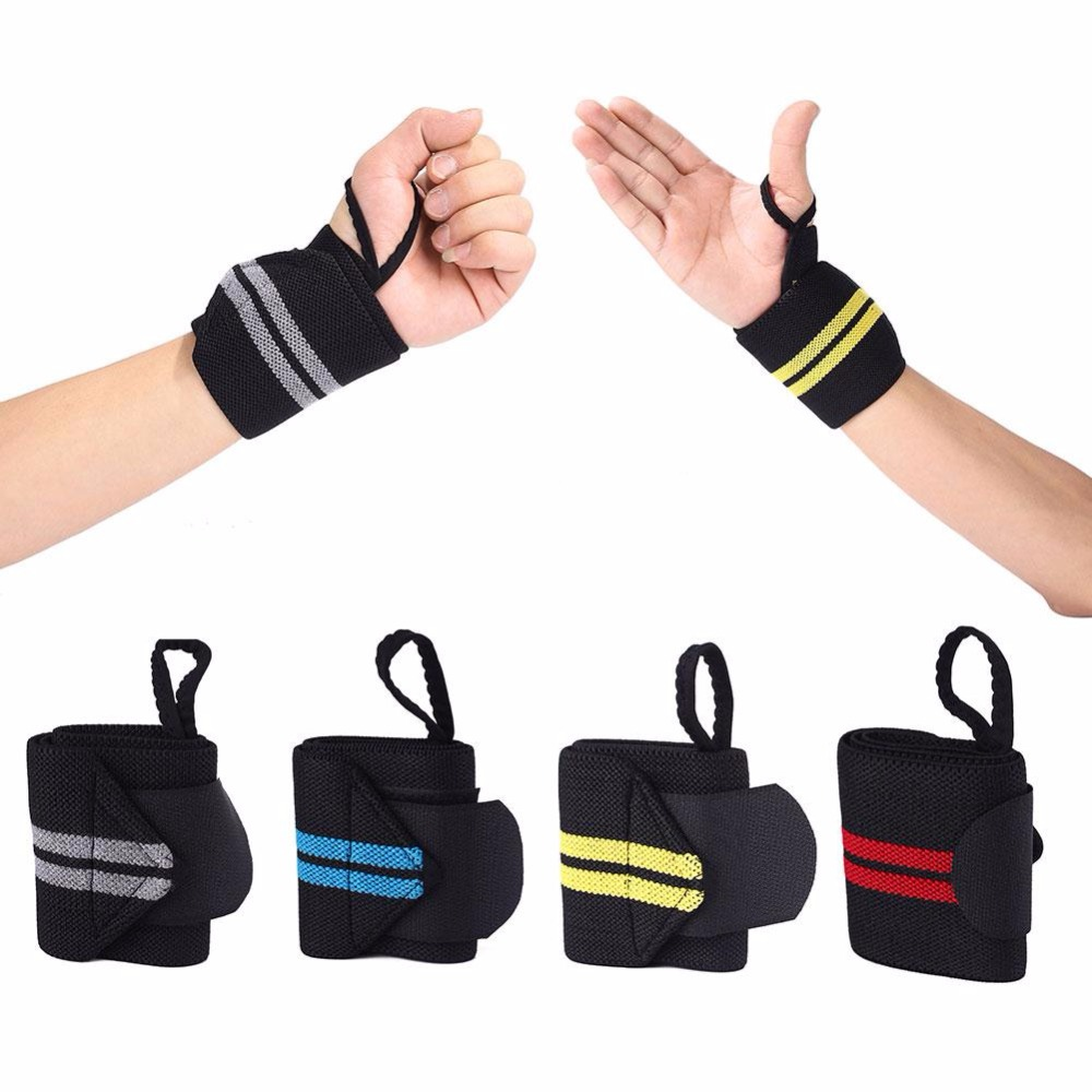Piece 4 colours Hand Wraps Wrist Strap Crossfit Powerlifting Bodybuilding  Support Weight Lifting