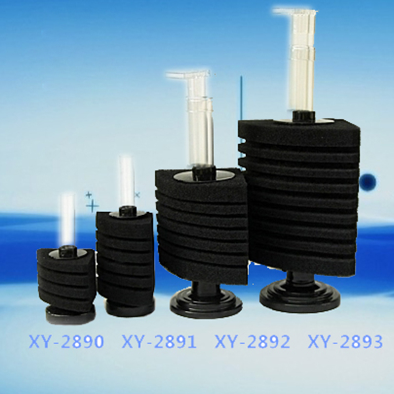 Aquarium biochemical corner sponge filter air driven for Outdoor fish tank filter
