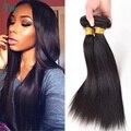 Горячий продавать прямые волосы переплетения бразильский виргинский волосы прямые пучки бразильские 3 пучки за лот дешевые человеческих волос хорошего качества