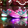 BBX Brand Children Shoes With Light 2017 Новый Спорт Кроссовки Мода Кроссовки Дети Светодиодные Чистая Дышащий Shoes 1506
