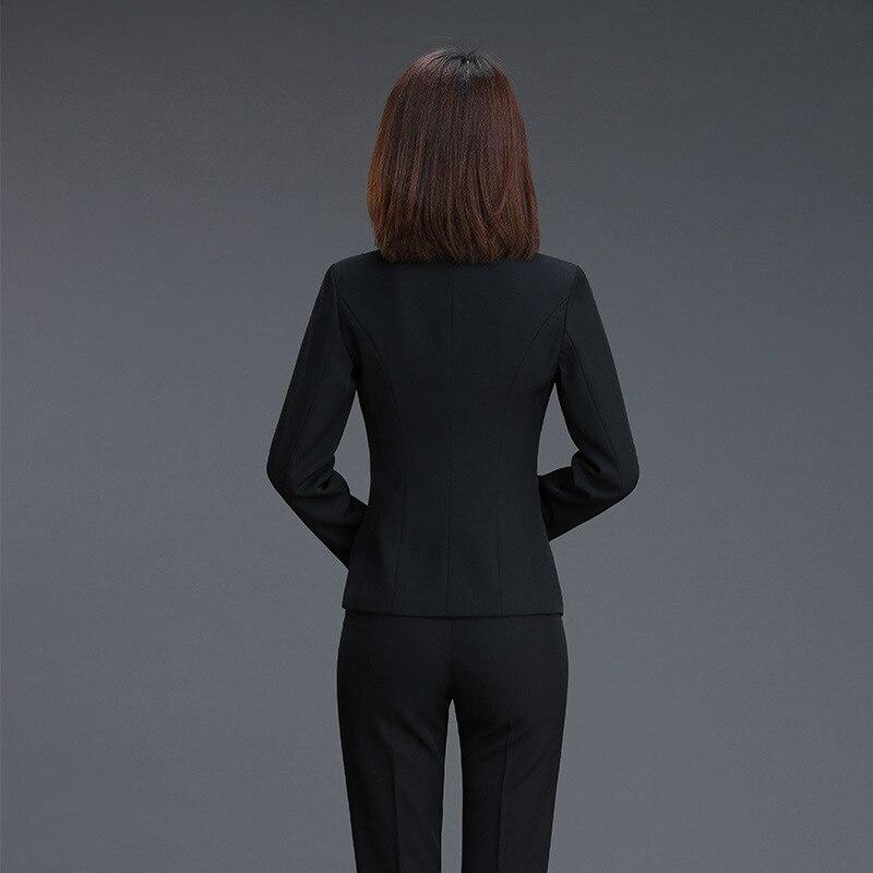 Black Automne Mince black Pantalon Pants Bouton Costumes Nouveau Et Seul Pantalons Solide Pants D'affaires Formels Femmes blue Ol Blazers Couleur De Jacket Printemps Acrmrac Skirt n1qYwpUFx