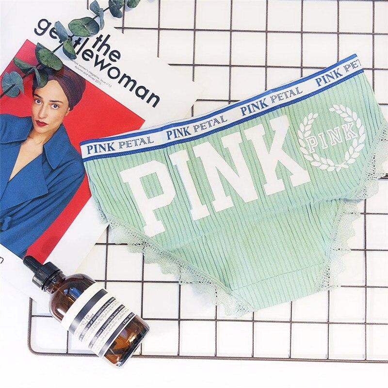 pink panties women breathable women underwear panties cute lace women briefs soft cotton panties women mid waist sexy panty 15