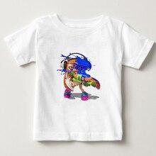 2019 Brand New Cute T Shirt Children Splatoon t shirt  kids Short Sleeve O Neck T-shirts boys/girls game Cartoon tee camiseta N