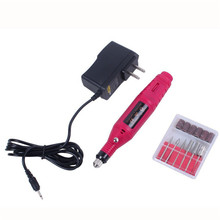Fast Nail Art Drill KIT Electric FILE Buffer Bits Acrylic Portable Salon Machine G6622