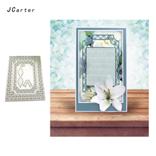 JCarter Lace Mesh Frame Background Metal Cutting Dies for Scrapbooking DIY Album Embossing Folder Stencils Photo Card Template