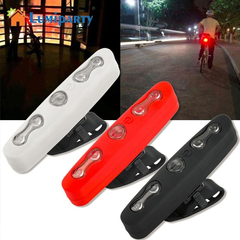 LumiParty 5LED Rear Bicycle Light Waterproof Bike Lamp Safety Cycling Warning Taillight wheel up bicycle rear seat trunk bag full waterproof big capacity 27l mtb road bike rear bag tail seat panniers cycling touring