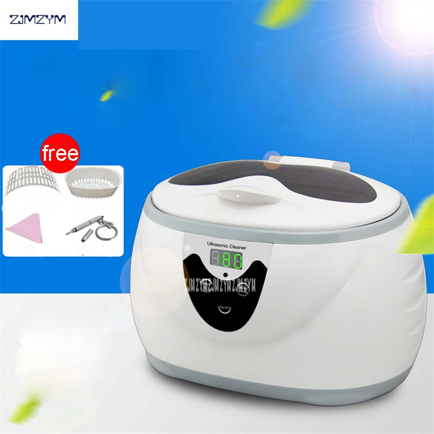 JP-3800S Digital Ultrasonic Cleaner Tank Wash Tank Baskets Jewelery Watches Dental 0.6L 35W Cleaner, Cleaning basket + bracket