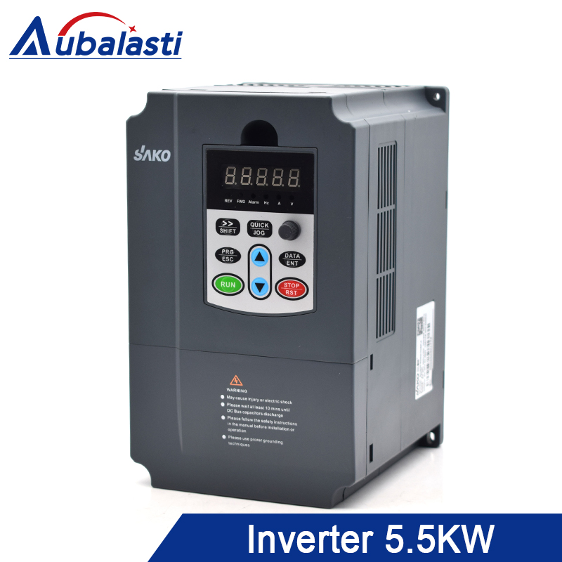 Aubalasti Inverter 5.5KW Frequency Converter Input 220v Output 380V 25A 400Hz use for CNC machineAubalasti Inverter 5.5KW Frequency Converter Input 220v Output 380V 25A 400Hz use for CNC machine