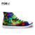 FORUDESIGNS 2017 Nova Moda Colorida Animal Vulcanize Sapatos Dos Homens de Impressão de Alta-top Masculino Primavera Outono Lace-up Sapata de Lona plana