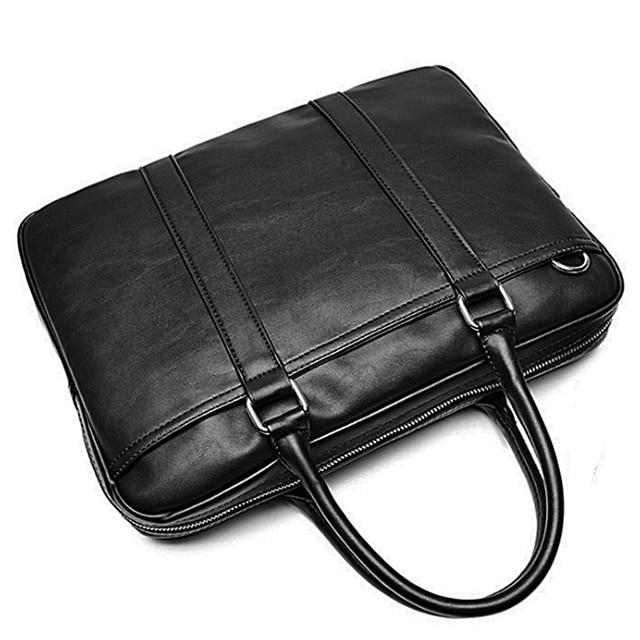 VORMOR Promotion Simple Famous Brand Business Men Briefcase Bag Luxury Leather Laptop Bag Man Shoulder Bag bolsa maleta 1