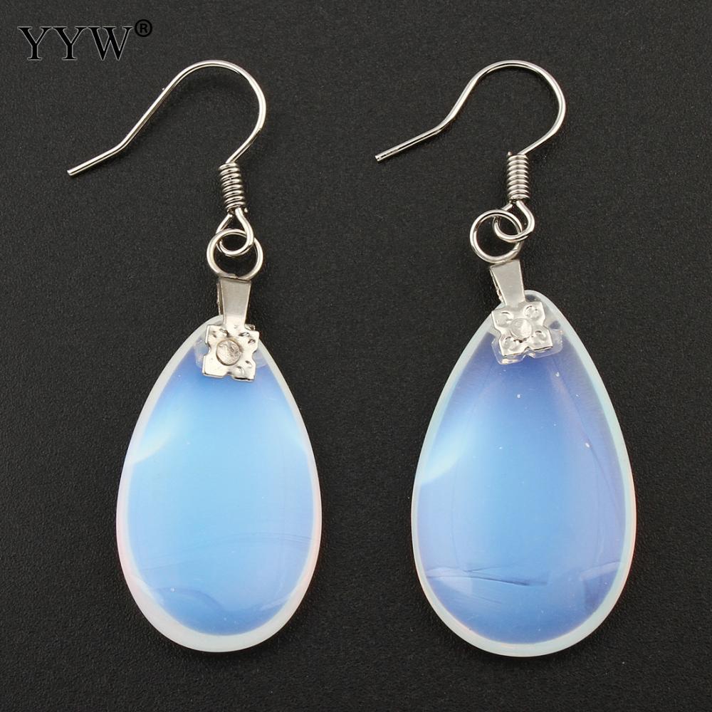 Us 1 17 35 Off Yyw Whole Jewelry Moonstone Teardrop Earrings White Sea Opal Drop Dangle For Women Gift Brincos In From