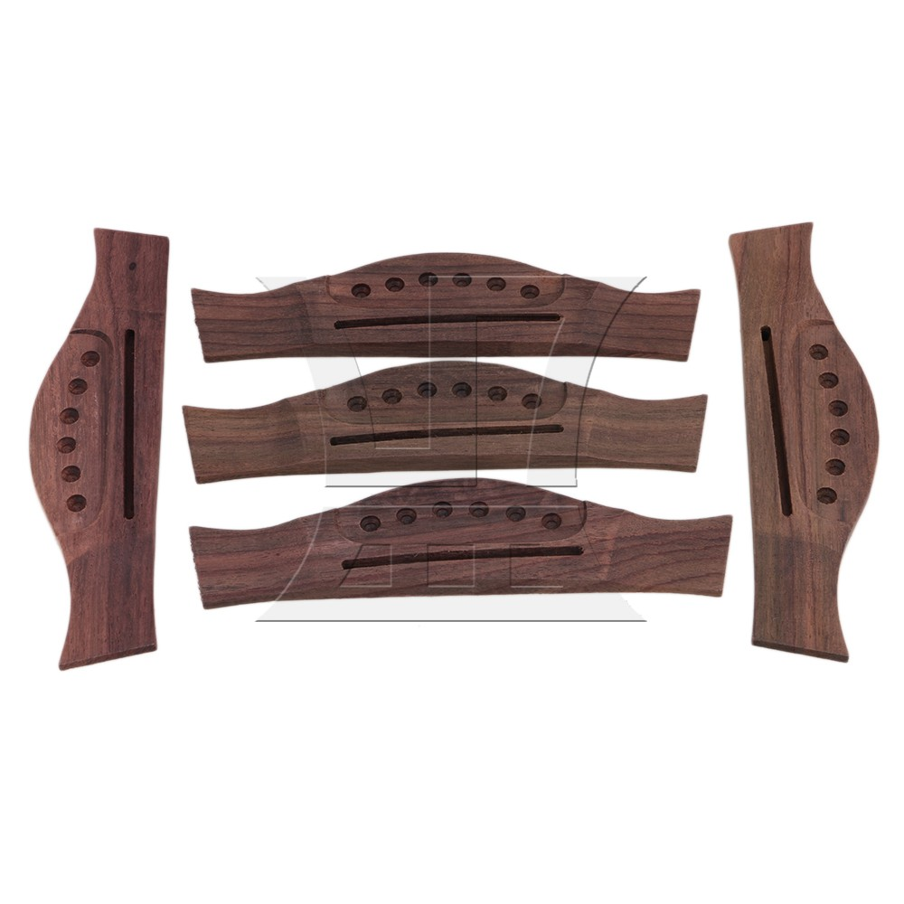 Yibuy 165x40MM Rosewood Brown 6 String Saddle Bending Acoustic Guitar Bridge new style 6 string saddle headless guitar bridge tailpiece with worm involved string device