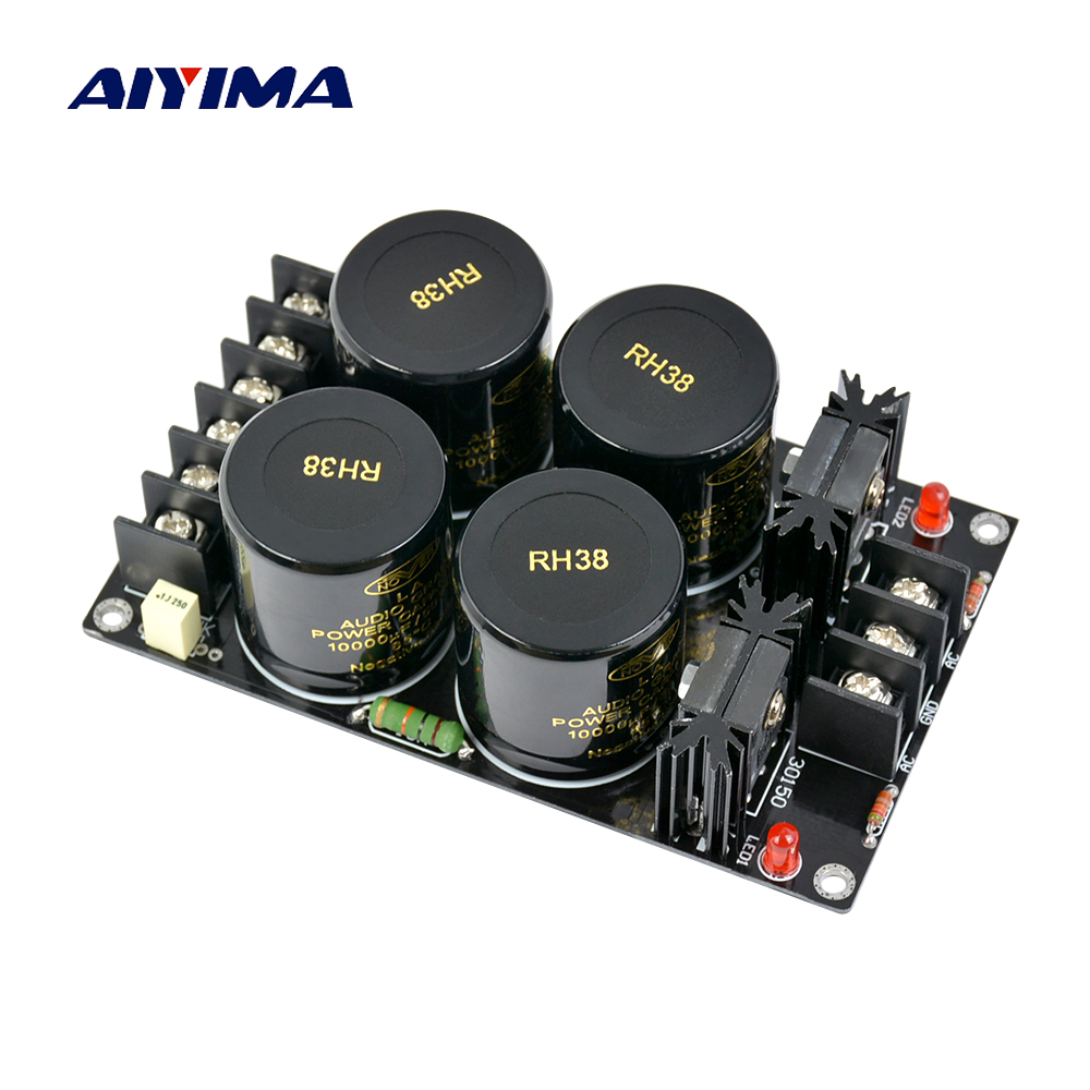 Aiyima Assembled Amplifier Rectifier Protect board Supply Power Board High Power Rectifier Filter Power Supply Board music hall clone dartzeel nhb 108b amplifier power rectifier filter speaker protect diy kit free shipping