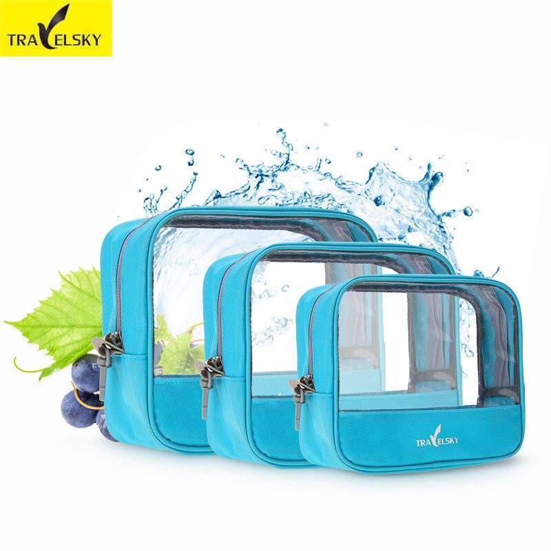 Travelsk vízálló utazási tároló táska nagy kapacitású női szervező kozmetikai hordozható nylon smink táskák férfi piperecikkek táska