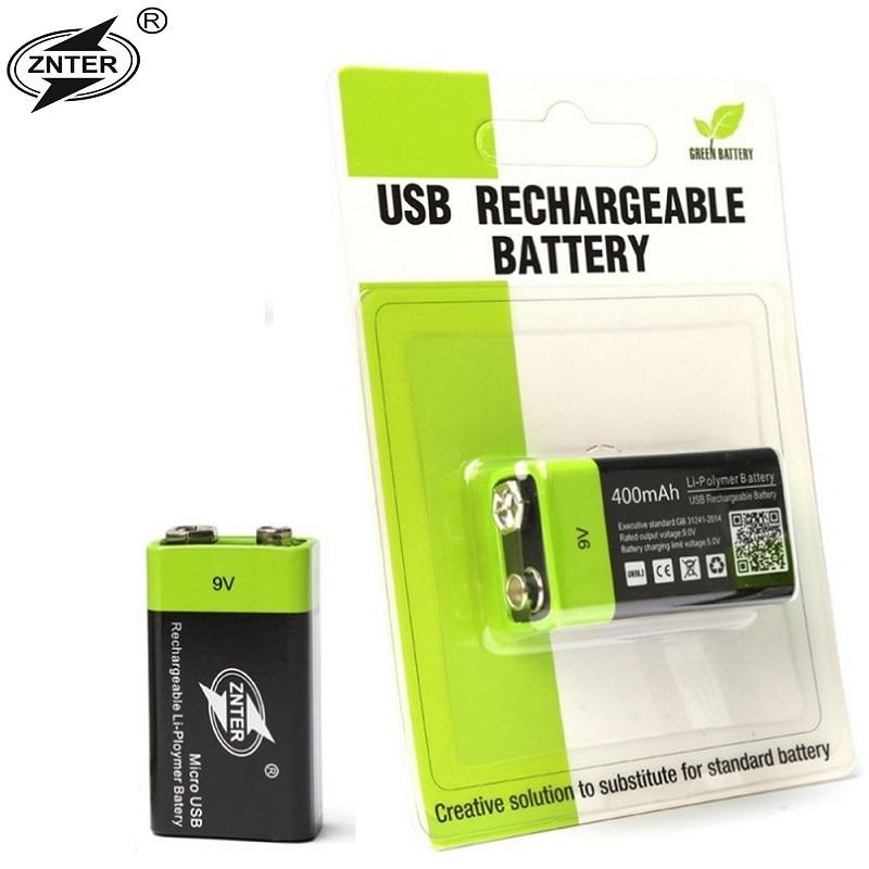 ZNTER/DP/UNITEK/PKCELL 6F22-baterías recargables de 9 V para detectores de humo, micrófonos inalámbricos, superventas