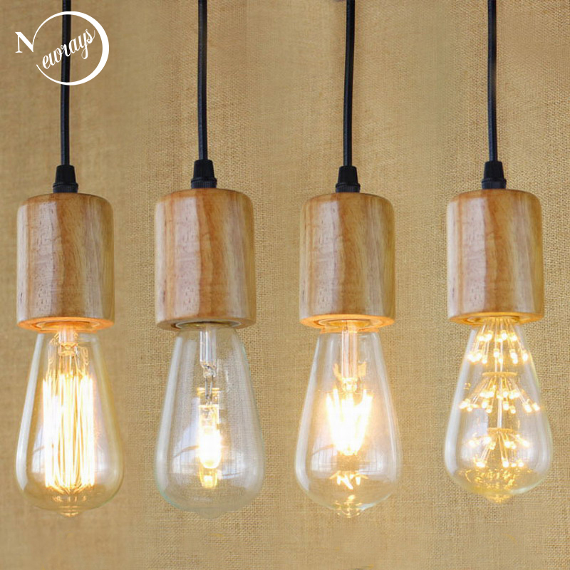 Hanging Lamp Price: Simple Single Head Pendant Light Nature Wooden Pendant
